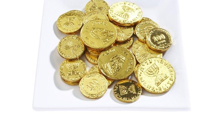 Las monedas de dulce son ideales para la lección del recaudador de impuestos.