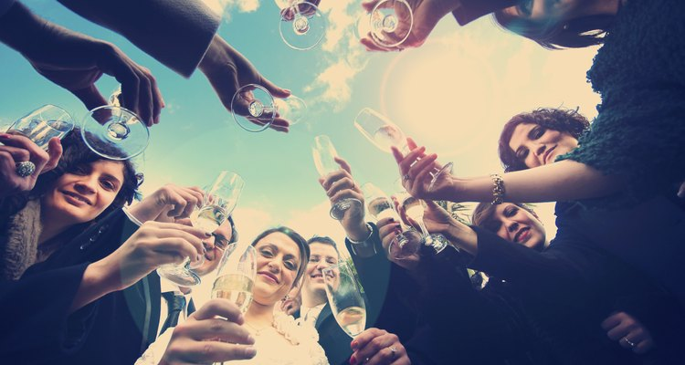 Cheers! Newlyweds and Friends Vintage Toast