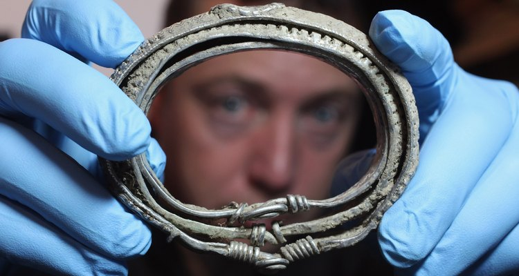 Artifacts From The Silverdale Viking Hoard Are Put On Display At The British Museum