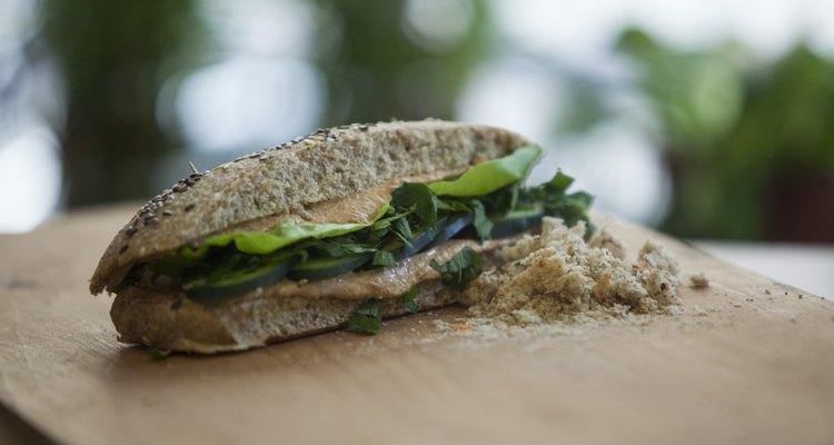 sandwich on a gray background