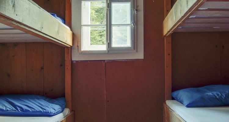 Bunk beds save space.
