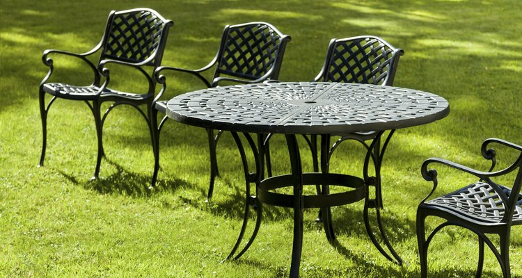 Refresh cast iron furniture with paint.