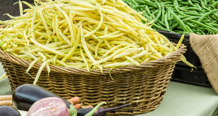 Basket of yellow snap beans