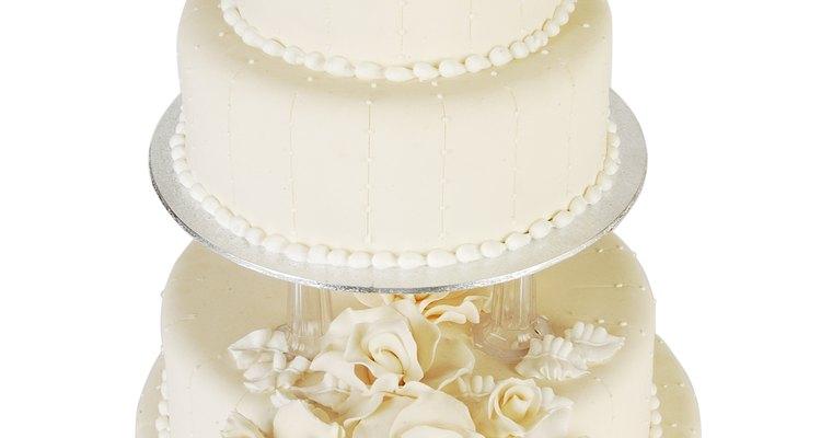 Wrap your leftover wedding cake so it stays fresh.