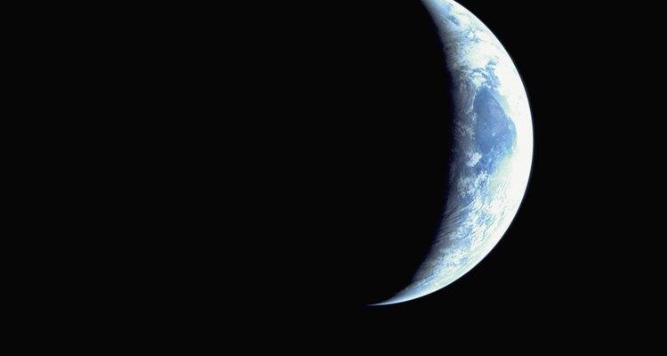 Vista de un eclipse lunar.