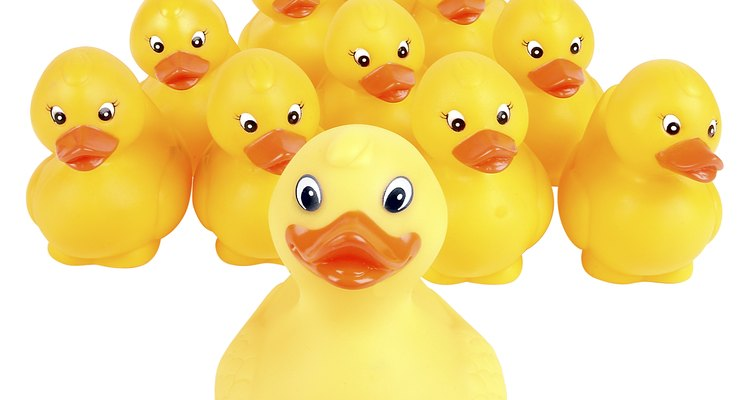 Rubber duck races can be run on dry land.