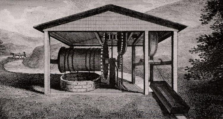 La esclusa es un plano inclinado usado para dirigir el agua.