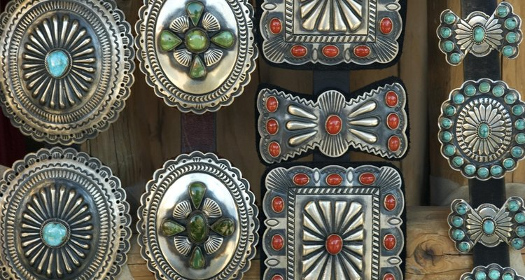 Southwestern jewelry in silver and turquoise