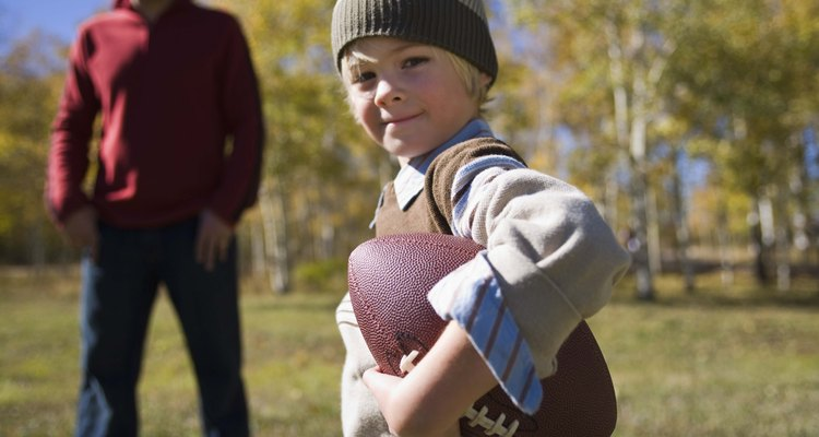 Deflate a football with cold air.