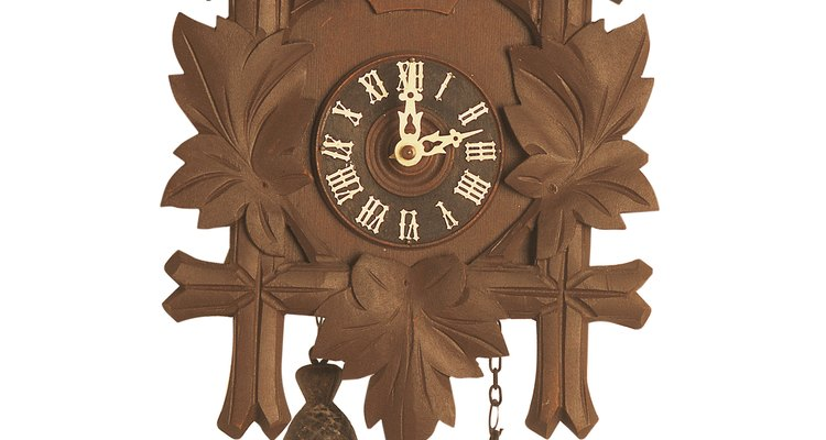 Cuckoo clock pendulums are adjustable to compensate for hot or cold conditions.