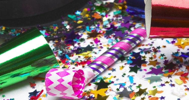 Noisemaker and confetti