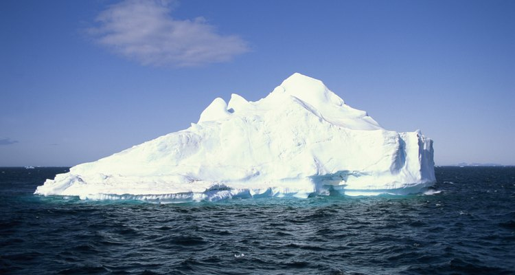 The melting of the polar ice caps is part of global climate change.