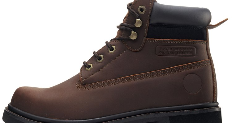 side view of hiking boot