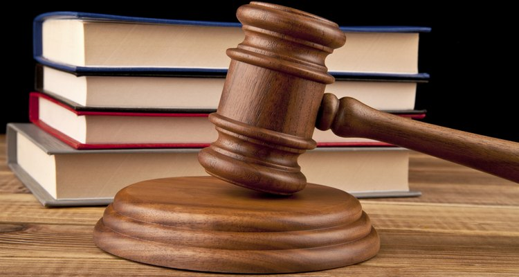 A civil judgement is issued by a law court.