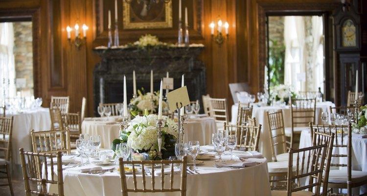 Elegant Wedding Reception Dining Room