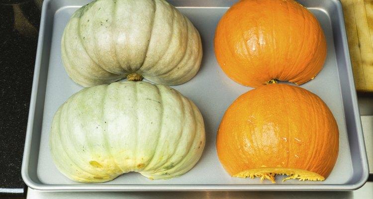 Squash and pumpkin ready to bake