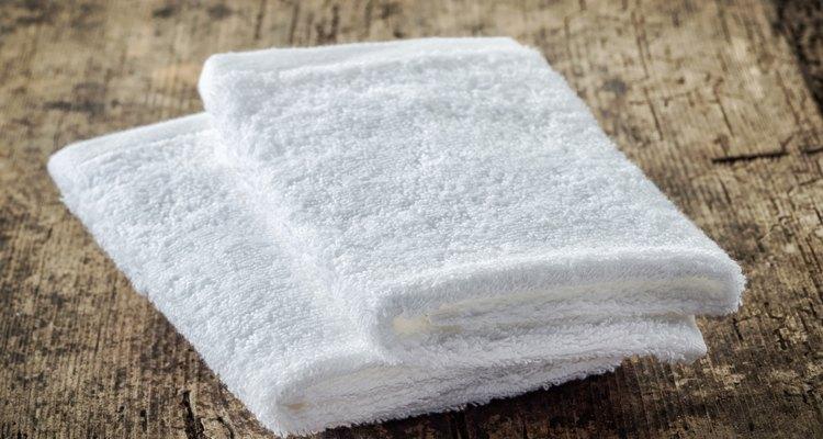 white spa towels