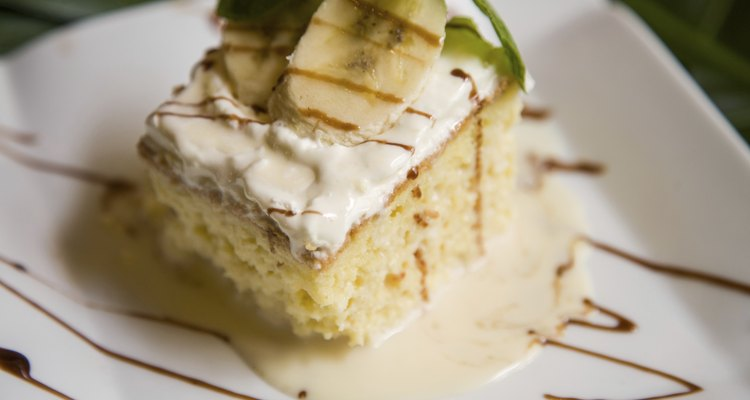 Tres Leches Cake with Banana