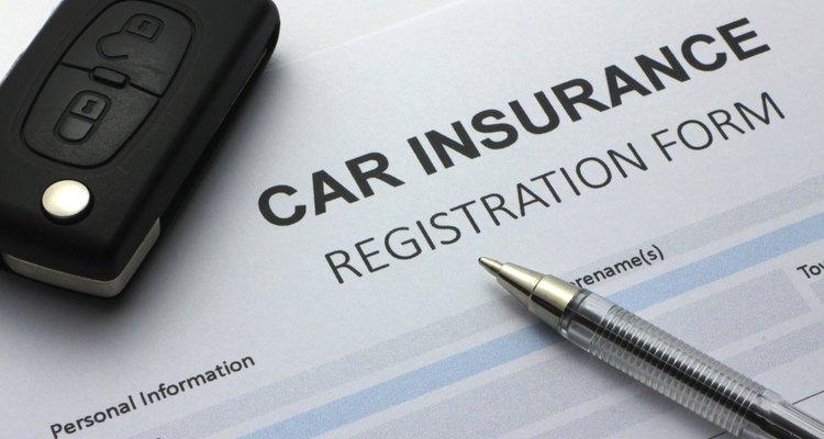 Formulario de seguro de carro.