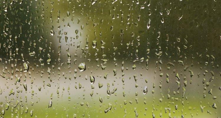 A chuva estraga o revestimento em verniz