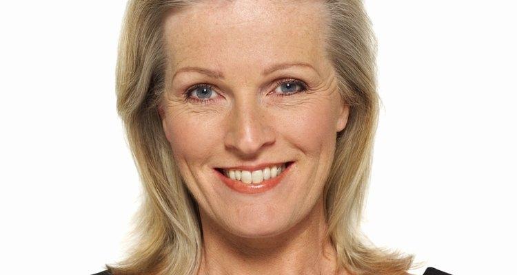 Close-up portrait of mature woman