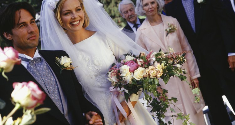 Wedding ceremony, outdoors, close-up