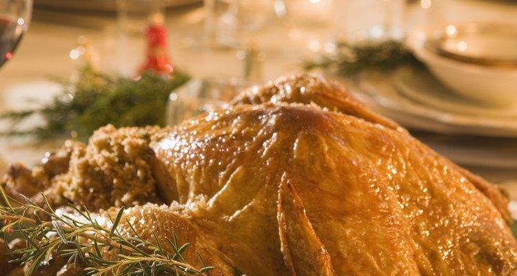 El pavo al horno es una comida festiva tradicional.
