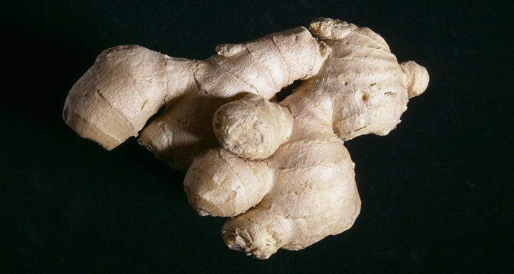 Root ginger, ready for grating
