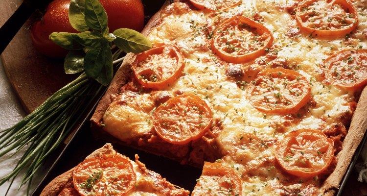 La mozarela fresca se usa en la cocina italiana auténtica.