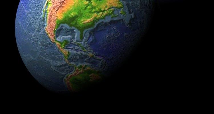 Faça um mini globo terrestre a partir de uma bola de isopor pequena