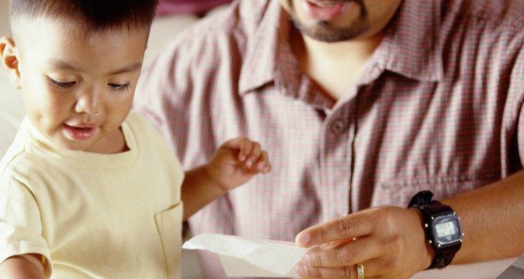 Las estampas son un buen incentivo para los niños pequeños.