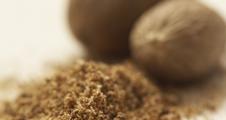 Ground nutmeg is a familiar ingredient in many recipes.