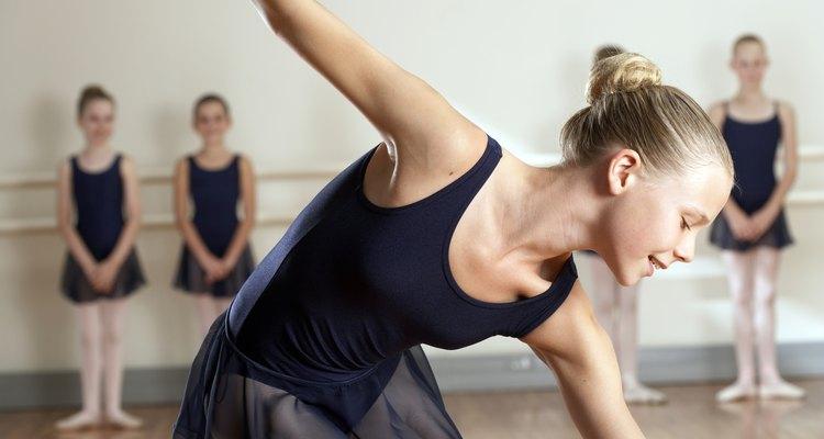 young girl ballet dancing
