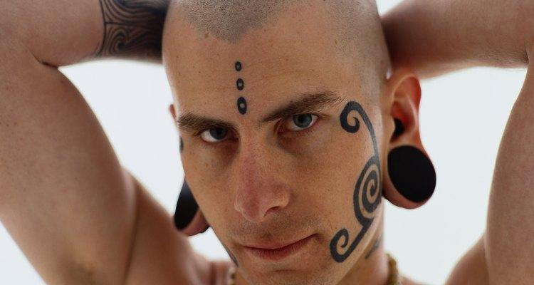 Portrait of a Tattooed Man