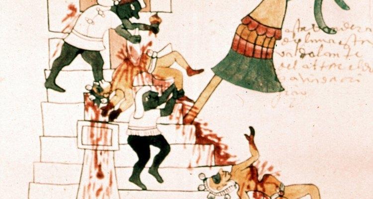 Los Aztecas, no los Incas, practicaban el sacrificio humano.