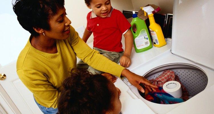 Remova facilmente os fiapos residuais de sua máquina de lavar