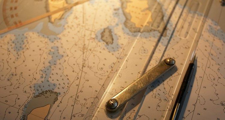 Los transportadores fueron utilizados por primera vez para medir cartas náuticas.