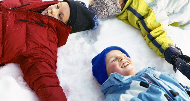 La nieve ofrece diversión infantil asegurada.