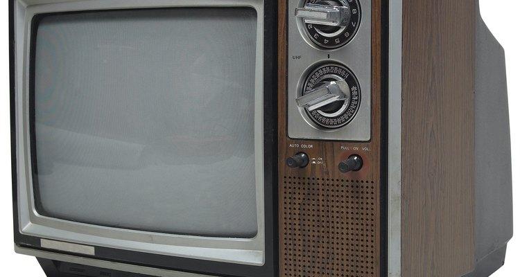 As TVs mais antigas usam um canhão luminoso para exibir as imagens