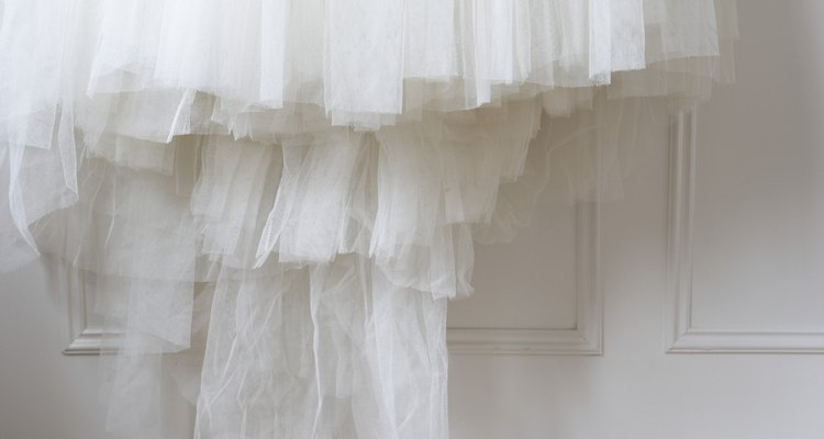 Tulle is a very delicate, sheer material that is often associated with weddings.