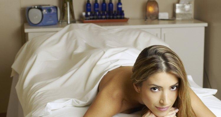 Um quarto de massagem deve ser relaxante