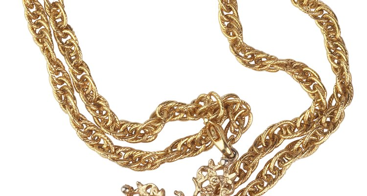 Gold acts as the filler for gold jewellery.