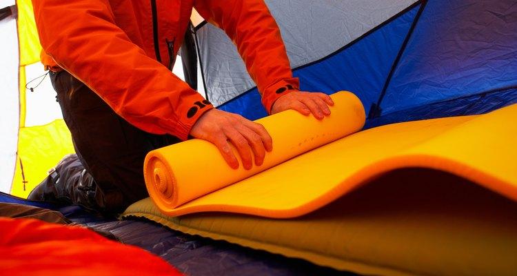 Colchonetes de acampamento feitos em casa