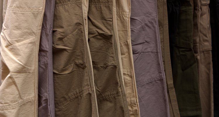 Wrinkled trousers