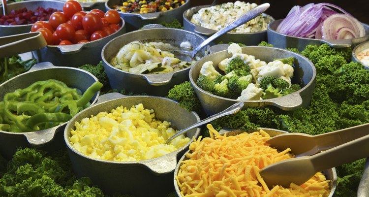 Mini pepinos podem ser encontrados em algumas saladas
