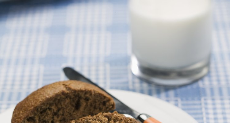 A moist warm muffin is a delicious treat.