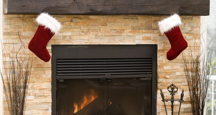 Add shine to your fireplace brick for easy cleaning.