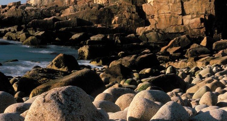 Las playas del parque nacional de Acadia son ricos en vidrio, aunque complicado, para ir de excursión.