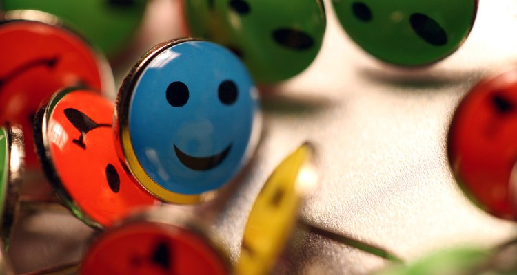 A simple smiley face is made of circles.