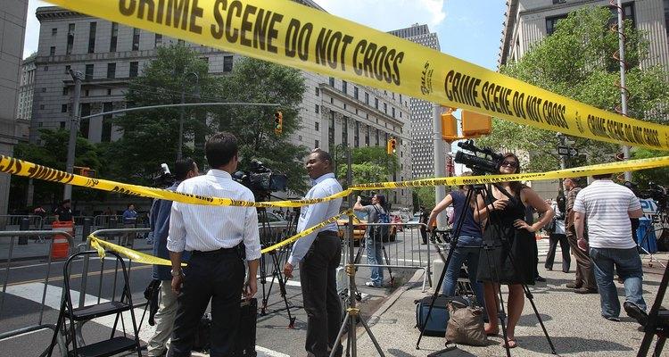 Escena del crimen en el centro de la ciudad.
